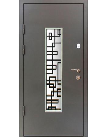Двері Magda модель 143 сіра тип 4 Метал / Мдф