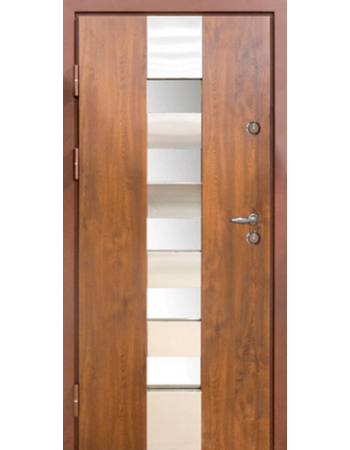 Входные двери Magda модель 701 Металл/МДФ тип 14 (Улица) Дуб Бронзовый