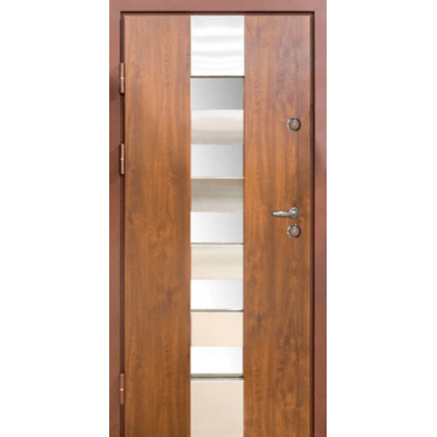 Вхідні двері Magda модель 701 Метал / МДФ тип 14 (Вулиця) Дуб Бронзовий