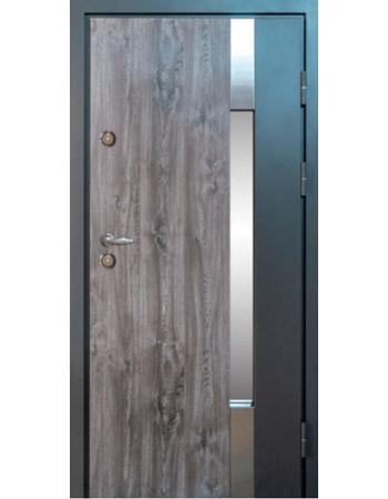Вхідні двері Magda модель 900 Метал / МДФ тип 14 (Вулиця) дуб кантрі / біле дерево