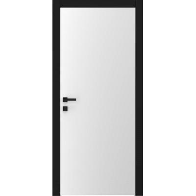 Двері A1 білий матовий чорна лиштва