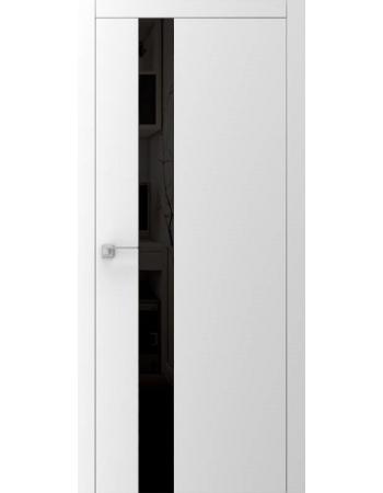 Двері A3.2.S з чорним склом lacobel біле, чорне