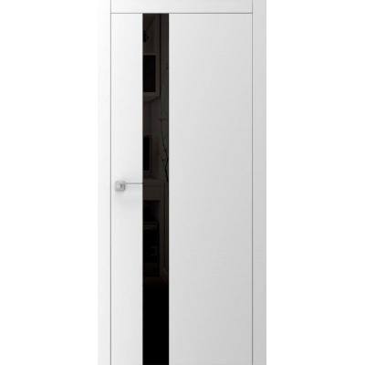 Двери A3.2.S с черным стеклом lacobel белое, черное