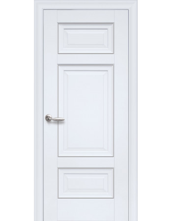 Дверь Элегант Шарм белый матовый глухая с молдингом