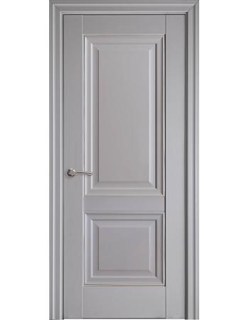 Двері Елегант Імідж сіра пастель (глухі з молдингом)