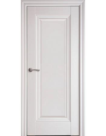 Двери Элегант белый матовый Престиж (глухое с молдингом)