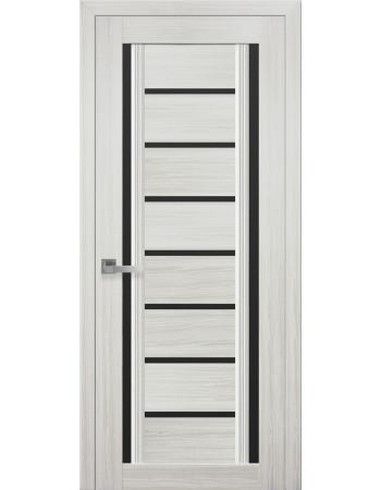 Дверь Итальяно Флоренция С2 жемчуг белый с черным стеклом