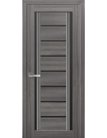 Дверь Итальяно Флоренция С2 жемчуг графит с черным стеклом