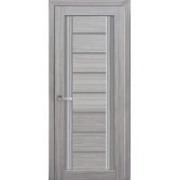 Двері Італьяно Флоренція С2 перла срібна з графітовим склом