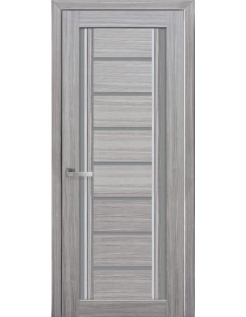 Дверь Итальяно Флоренция С2 жемчуг серебряный с графитовым стеклом