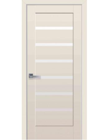 Дверь Ностра Линнея капучино со стеклом сатин
