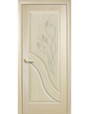 Дверь Маэстра Амата ясень new глухая с гравировкой