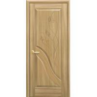 Двері Маестра Амата золотий дуб глухі з гравіюванням