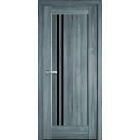 Двері Ностра Делла бук попелястий з чорним склом