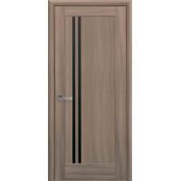 Двері Ностра Делла золотий дуб з чорним склом