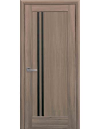 Дверь Ностра Делла золотой дуб с черным стеклом