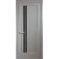 Двері Ностра Делла ясен new з чорним склом