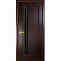 Двері Ностра Делла каштан з чорним склом