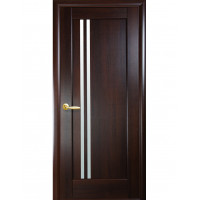 Двері Ностра Делла каштан зі склом сатин