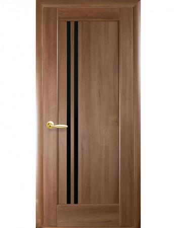 Дверь Ностра Делла золотая ольха с черным стеклом