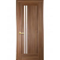 Дверь Ностра Делла золотая ольха со стеклом сатин
