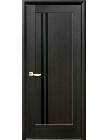 Дверь Ностра Делла венге new с черным стеклом