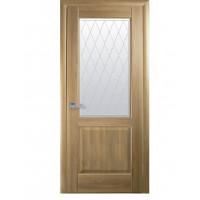 Двері Маестра Эпика золотий дуб зі склом сатин і малюнком Р2