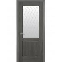 Двері Маестра Эпика grey зі склом сатин і малюнком Р2