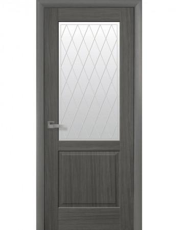 Дверь Маэстра Эпика grey со стеклом сатин и рисунком Р2