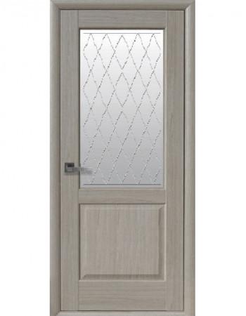 Двері Маестра Эпика ясен new зі склом сатин і малюнком Р2