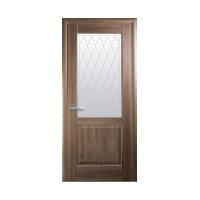 Двері Маестра Эпика капучино зі склом сатин і малюнком Р2
