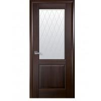 Двері Маестра Эпика каштан зі склом сатин і малюнком Р2