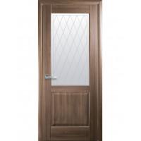 Двері Маестра Эпика золота вільха зі склом сатин і малюнком Р2