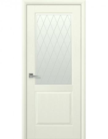 Дверь Маэстра Эпика патина со стеклом сатин и рисунком Р2