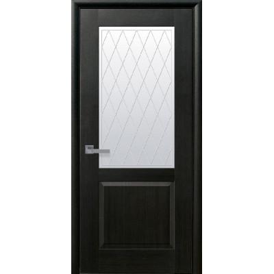 Дверь Маэстра Эпика венге new со стеклом сатин и рисунком Р2