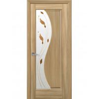 Двері Маестра Эскада золотий дуб зі склом сатин і малюнком Р1