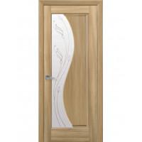 Двері Маестра Эскада золотий дуб зі склом сатин і малюнком Р2