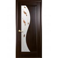 Двері Маестра Эскада каштан зі склом сатин і малюнком Р1
