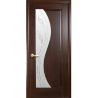 Двері Маестра Эскада каштан зі склом сатин і малюнком Р2