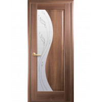 Двері Маестра Эскада золота вільха склом сатин і малюнком Р2