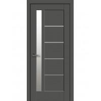 Двері Ностра Грета антрацит зі склом сатин