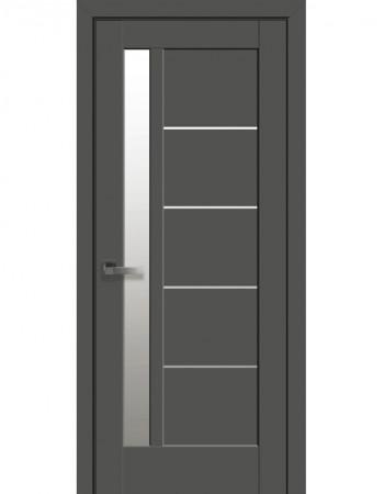 Дверь Ностра Грета капучино со стеклом сатин