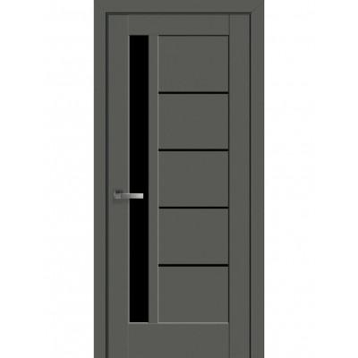 Двері Маестра Ностра Грета антрацит з чорним склом