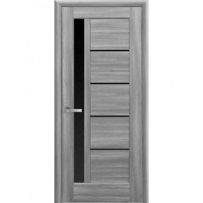 Дверь Ностра Грета бук пепельный с черным стеклом