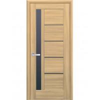 Двері Ностра Грета золотий дуб з чорним склом