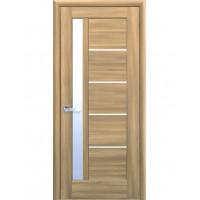 Двері Ностра Грета золотий дуб зі склом сатин