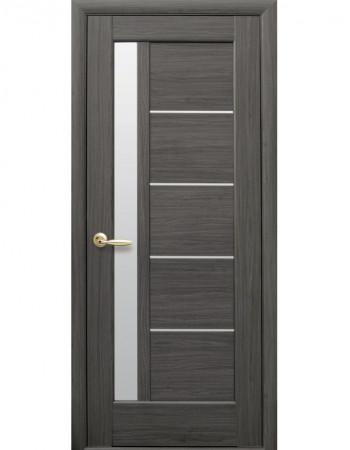 Дверь Ностра Грета grey со стеклом сатин