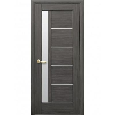 Двері Ностра Грета grey зі склом сатин