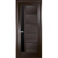 Двері Ностра Грета каштан з чорним склом