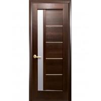 Двері Ностра Грета каштан зі склом сатин
